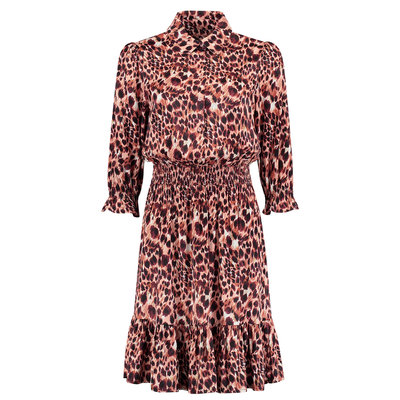 FIFTH HOUSE Soledad dress apricot panther