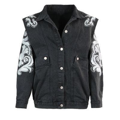 JAIMY On trend denim jacket black