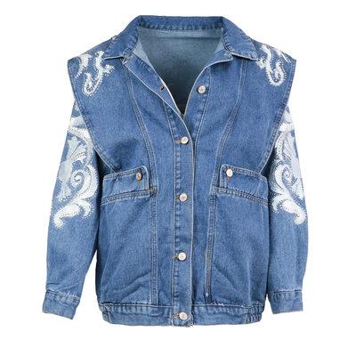 JAIMY On trend denim jacket long