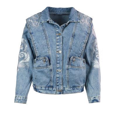 JAIMY On trend denim jacket short