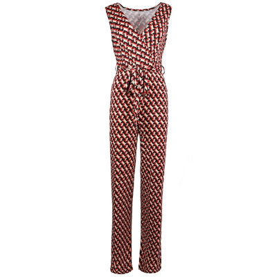 JAIMY Ruby chain print v-neck jumpsuit red