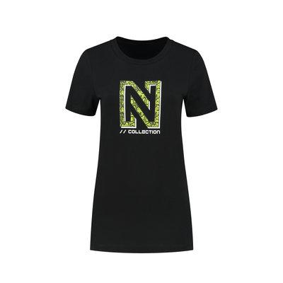 NIKKIE Snackey N logo t-shirt black
