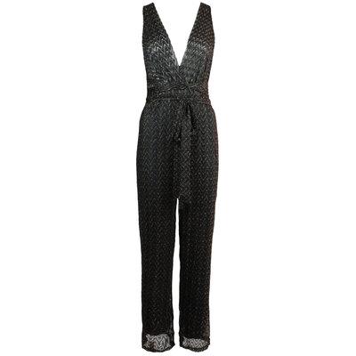JAIMY Multiple ways sparkle jumpsuit black