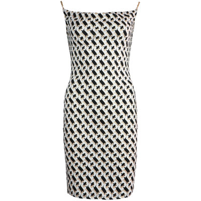 JAIMY Printed chain strap dress beige