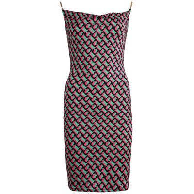 JAIMY Printed chain strap dress fuchsia