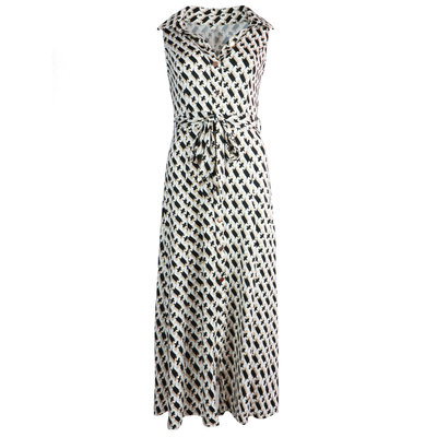 JAIMY Kyla chain print maxi travel dress beige