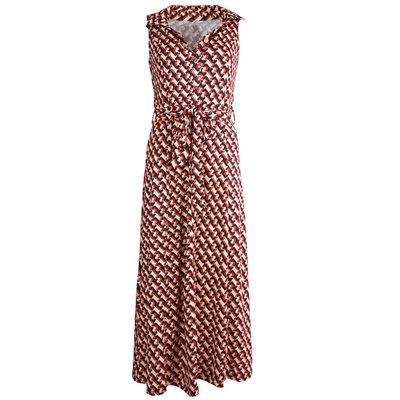 JAIMY Kyla chain print maxi travel dress red