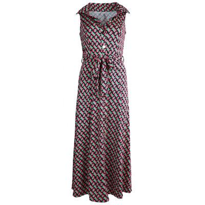 JAIMY Kyla chain print maxi travel dress fuchsia