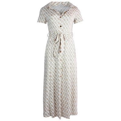 JAIMY Chain print maxi dress beige/white
