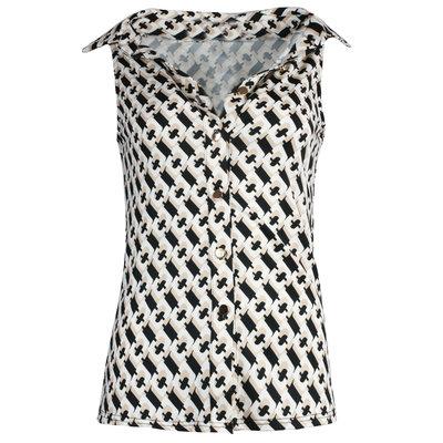 JAIMY Chain print sleeveless blouse beige