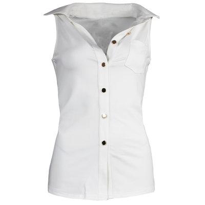 JAIMY Sleeveless travel blouse white