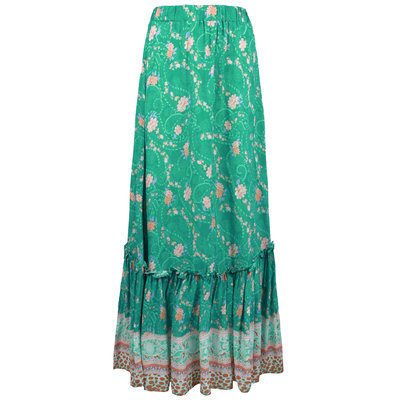 JAIMY Chaya printed maxi skirt green