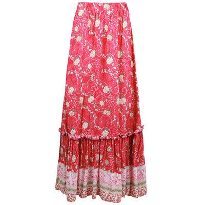 JAIMY Chaya printed maxi skirt fuchsia