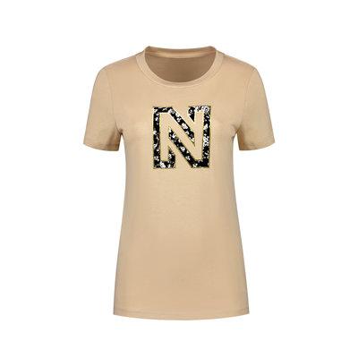 NIKKIE Flower logo t-shirt dust