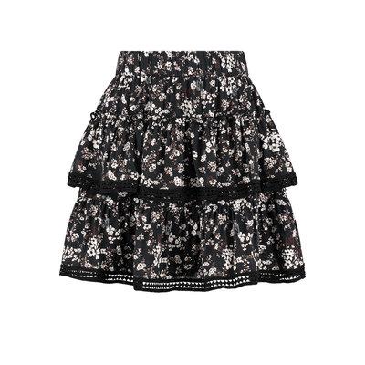 NIKKIE Tape flower skirt black