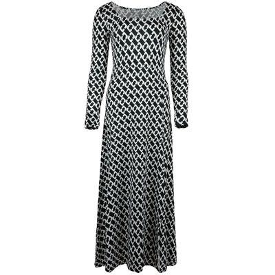 JAIMY Square neck chain travel maxi dress black