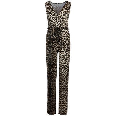 JAIMY Leopard v-neck travel jumpsuit