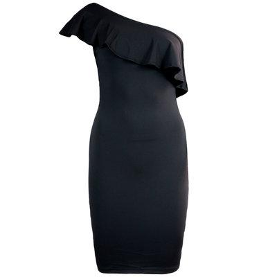 JAIMY One shoulder mini ruffle dress