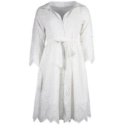 JAIMY Luna crochet dress white