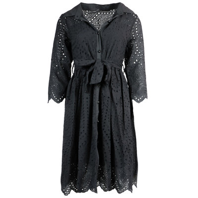 JAIMY Luna crochet dress black
