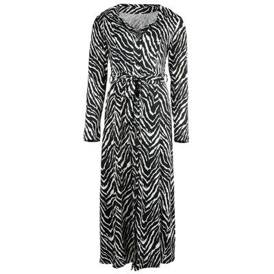 JAIMY Maxi travel zebra dress white