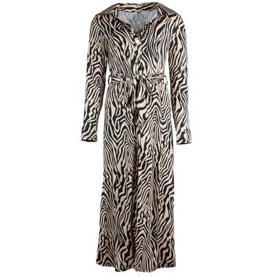 JAIMY Maxi travel zebra dress beige