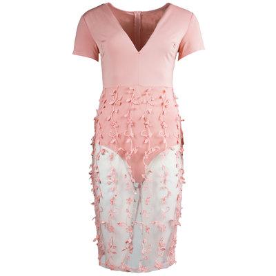 JAIMY Sheer overlay dress