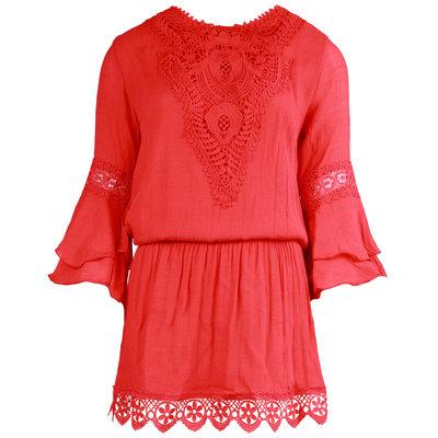 JAIMY Luella crochet dress red