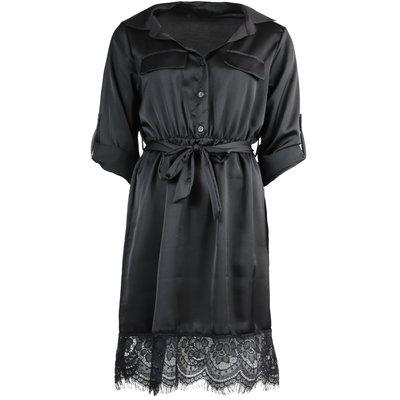 JAIMY Satin lace detail dress