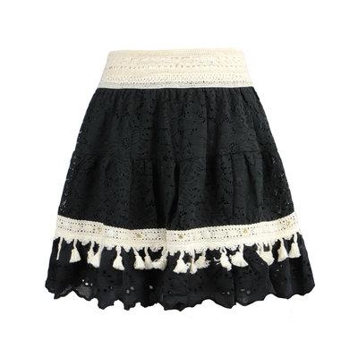 JAIMY Cleo crochet skirt black