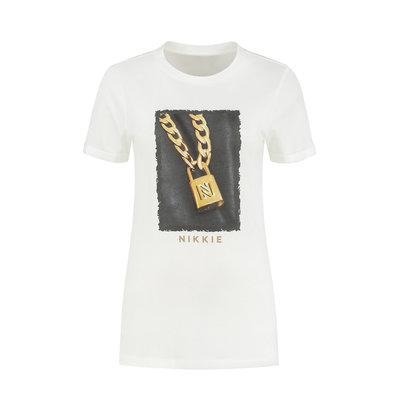 NIKKIE Padlock t-shirt star white