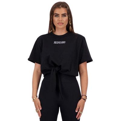 REINDERS T-shirt Reinders wording knot true black