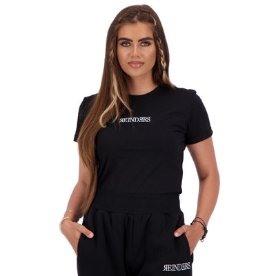 REINDERS T-shirt slim fit Reinders wording true black