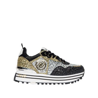 LIU JO Maxi wonder 1 sneaker black/gold
