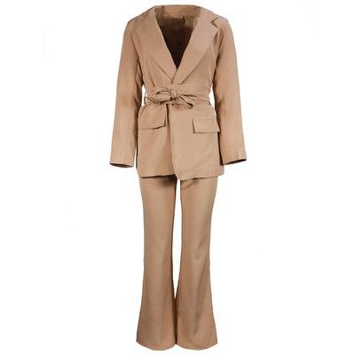 JAIMY Naomi flared suit camel