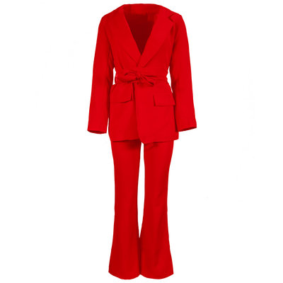 JAIMY Naomi flared suit red