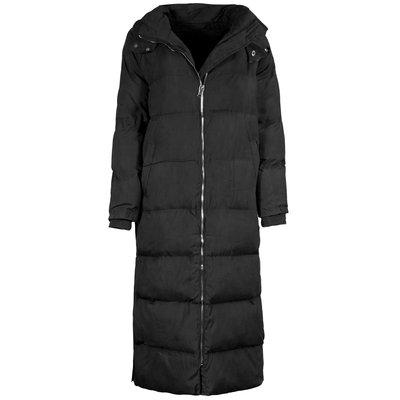 JAIMY Button puffer hoody jacket long