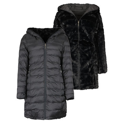 JAIMY OH MY FLUFFY 2WAYSTOWEAR jacket BLACK