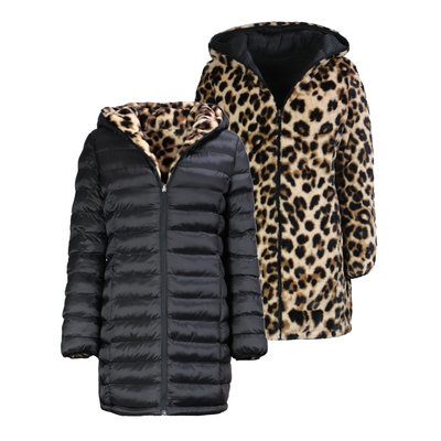 JAIMY OH MY FLUFFY 2WAYSTOWEAR jacket leopard