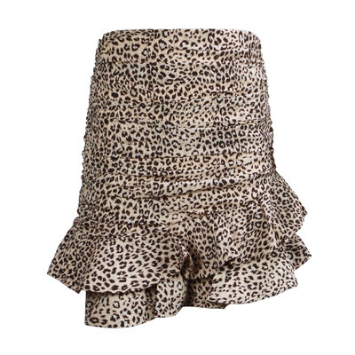 JAIMY Leopard ruched skirt