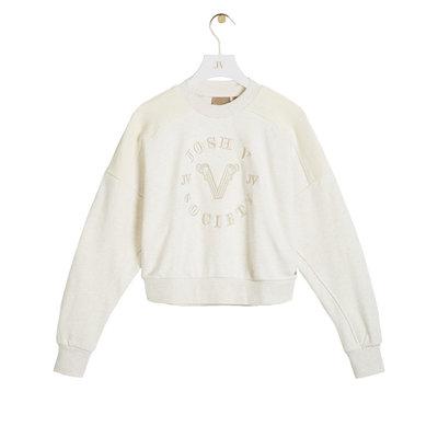 JOSH V Indiana sweater whisper white melange
