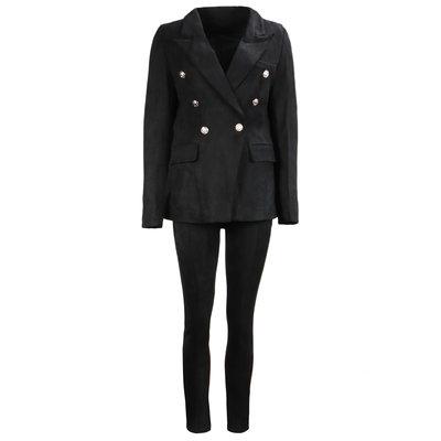 JAIMY Suede suit black