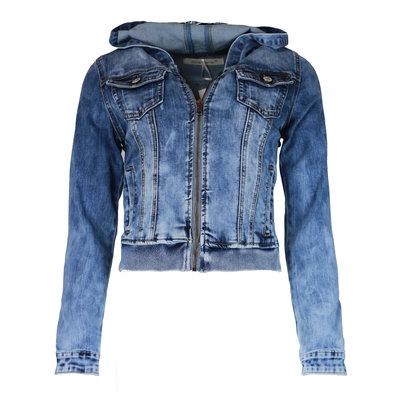 JAIMY Denim hoodie bomber jacket blue