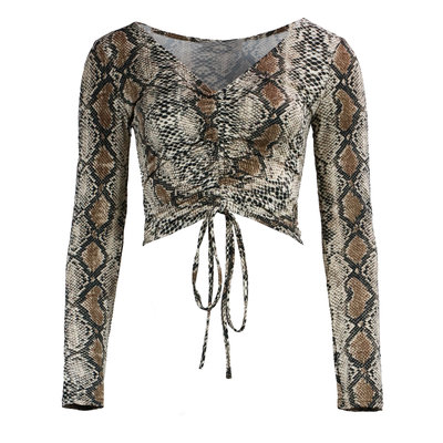 JAIMY Ruth ruched travel top snake