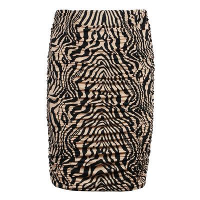 JAIMY Ruched travel skirt zebra