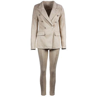 JAIMY Suede suit beige