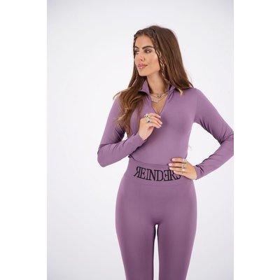 REINDERS Body turtleneck zipper long sleeves grapeade