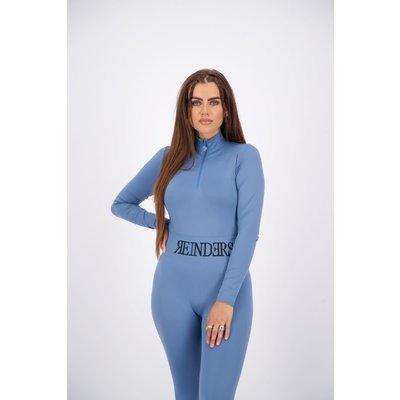 REINDERS Body turtleneck zipper long sleeves dark blue