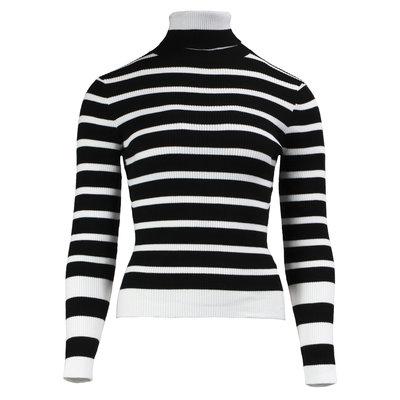 JAIMY Amy striped col top black