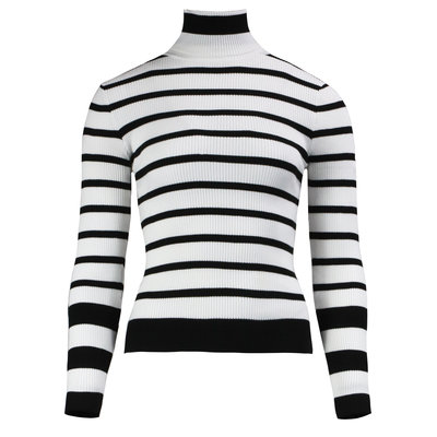 JAIMY Amy striped col top white